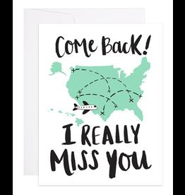 9th Letterpress Come Back Card