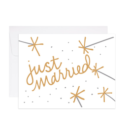 9th Letterpress Just Married Card