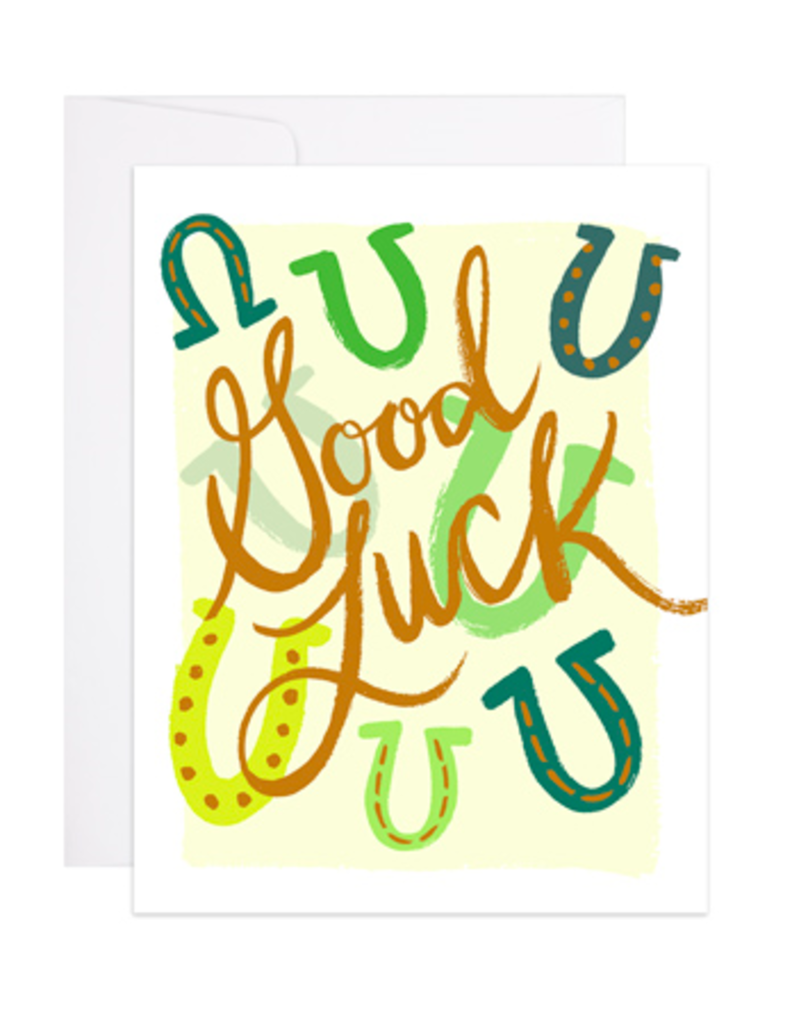 9th Letterpress Good Luck Horseshoe Card