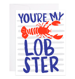 9th Letterpress You're My Lobster Card