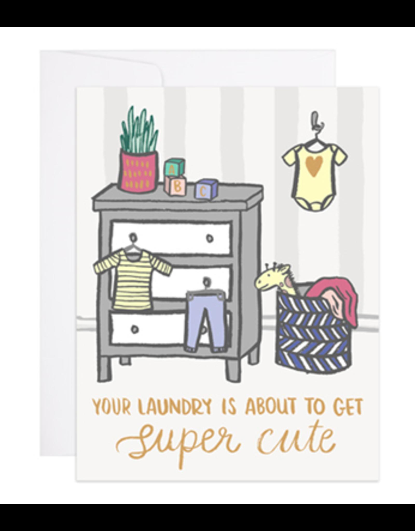 9th Letterpress Super Cute Laundry Card