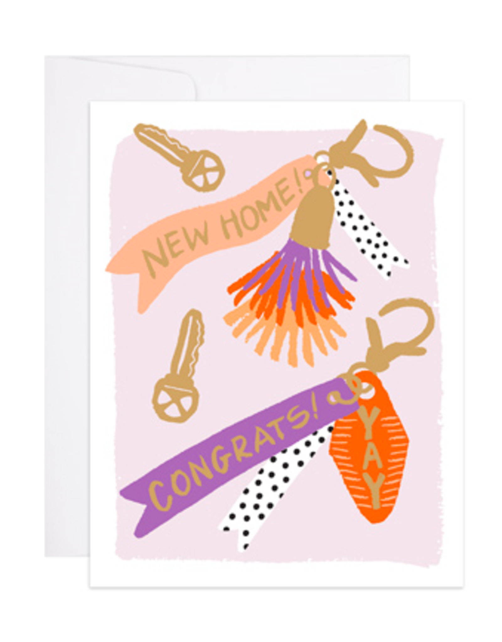 9th Letterpress New Home Keychain Card