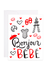 9th Letterpress Bonjour Bebe French Card