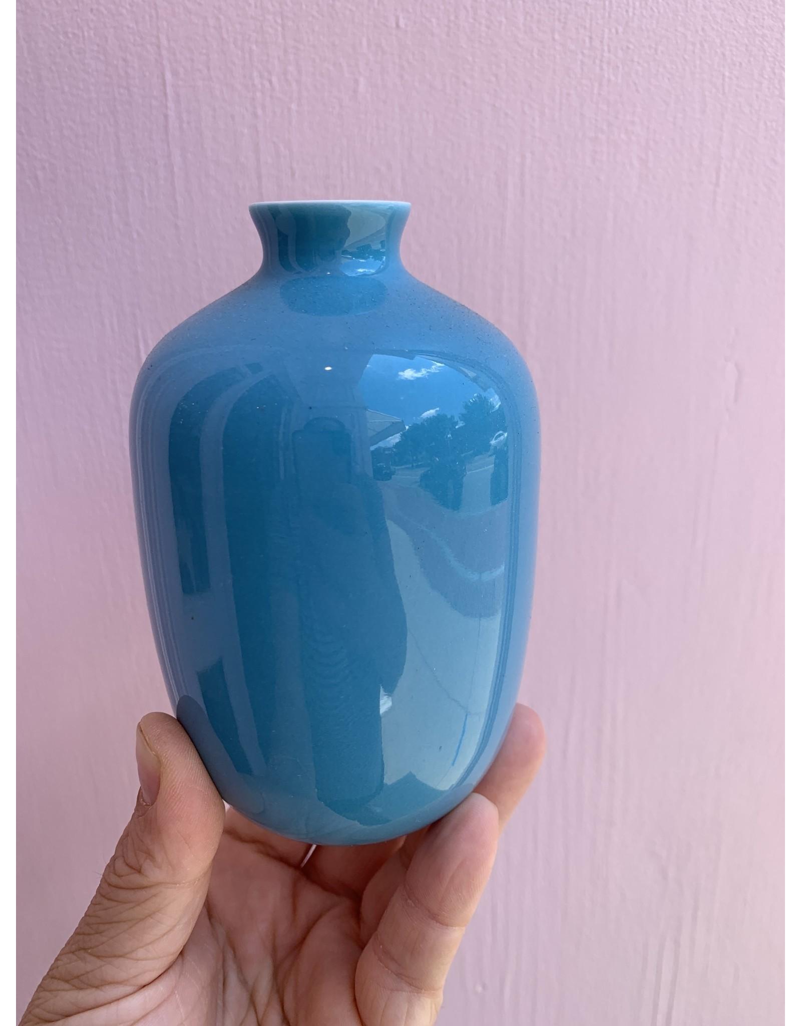 Middle Kingdom Mini Vase Plum Turquoise