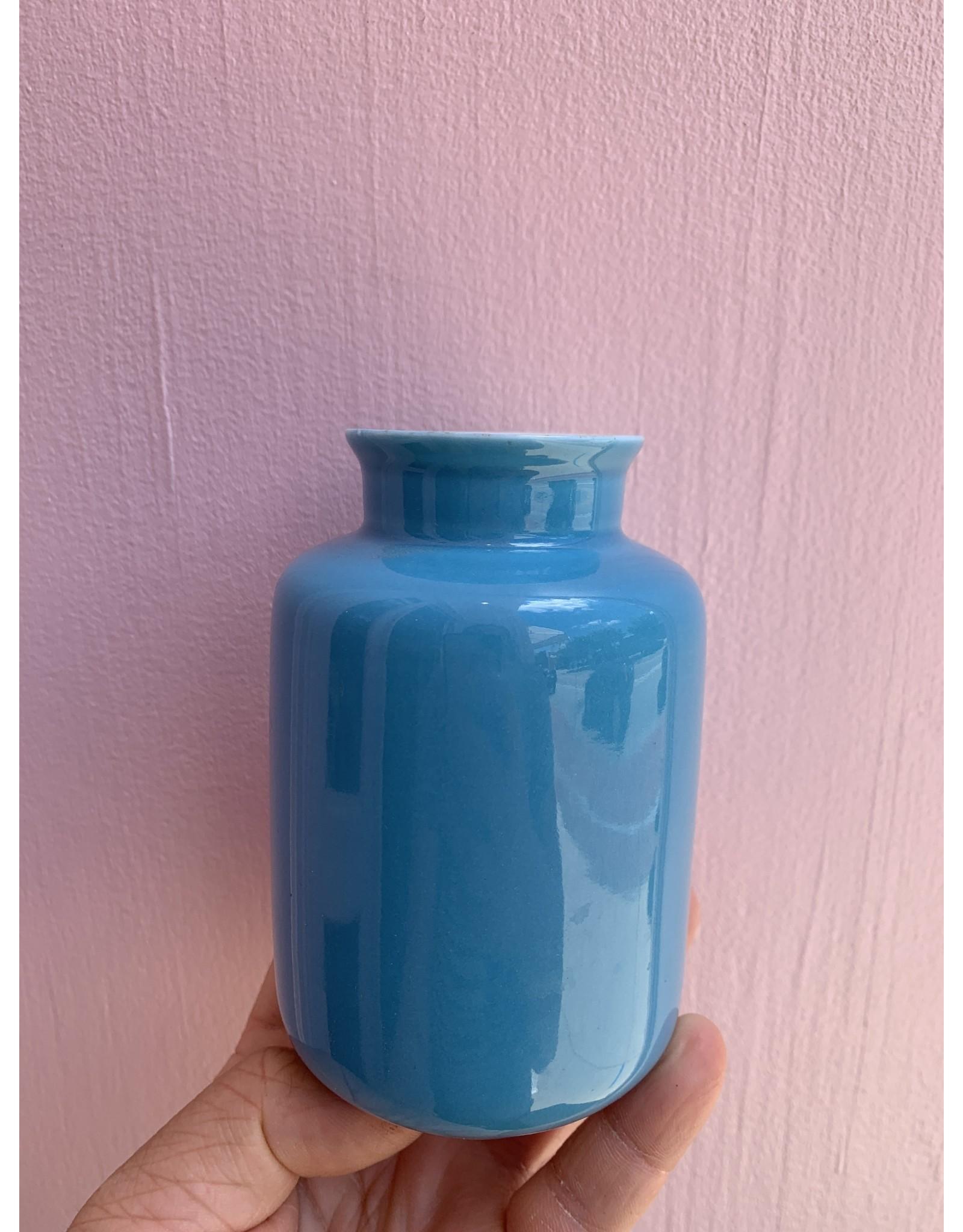 Middle Kingdom Mini Vase Milk Jar Turquoise