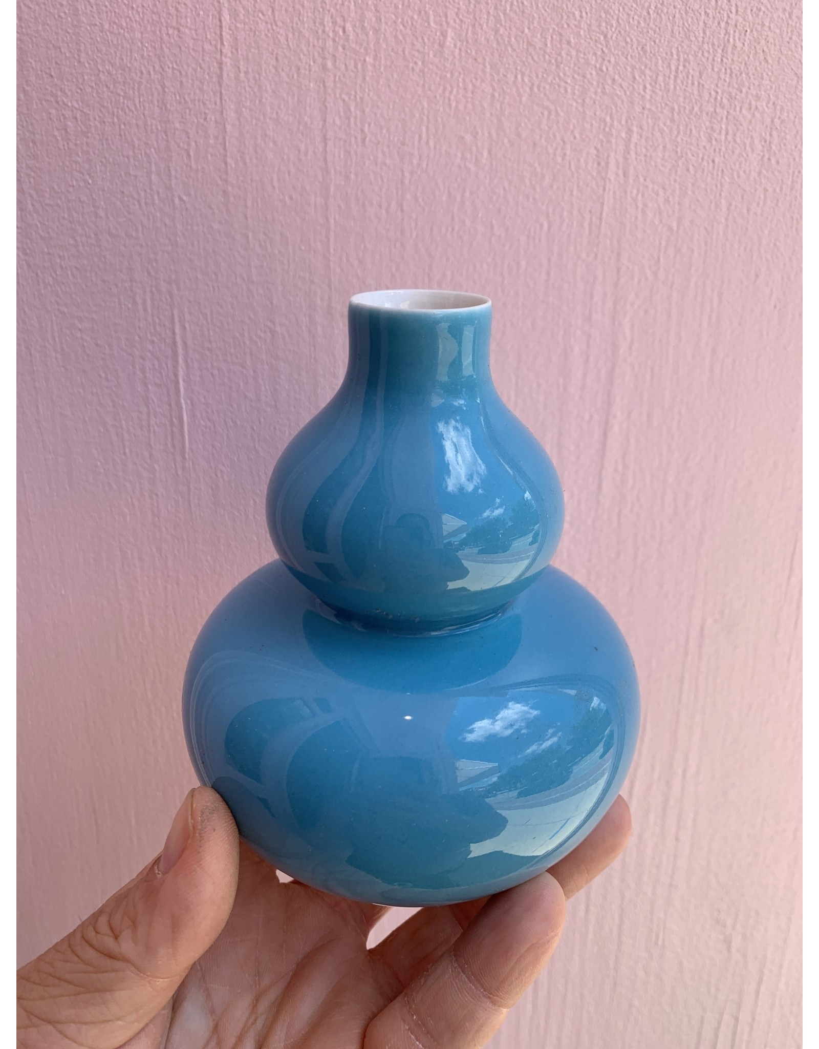 Middle Kingdom Mini Vase Double Gourd Turquoise