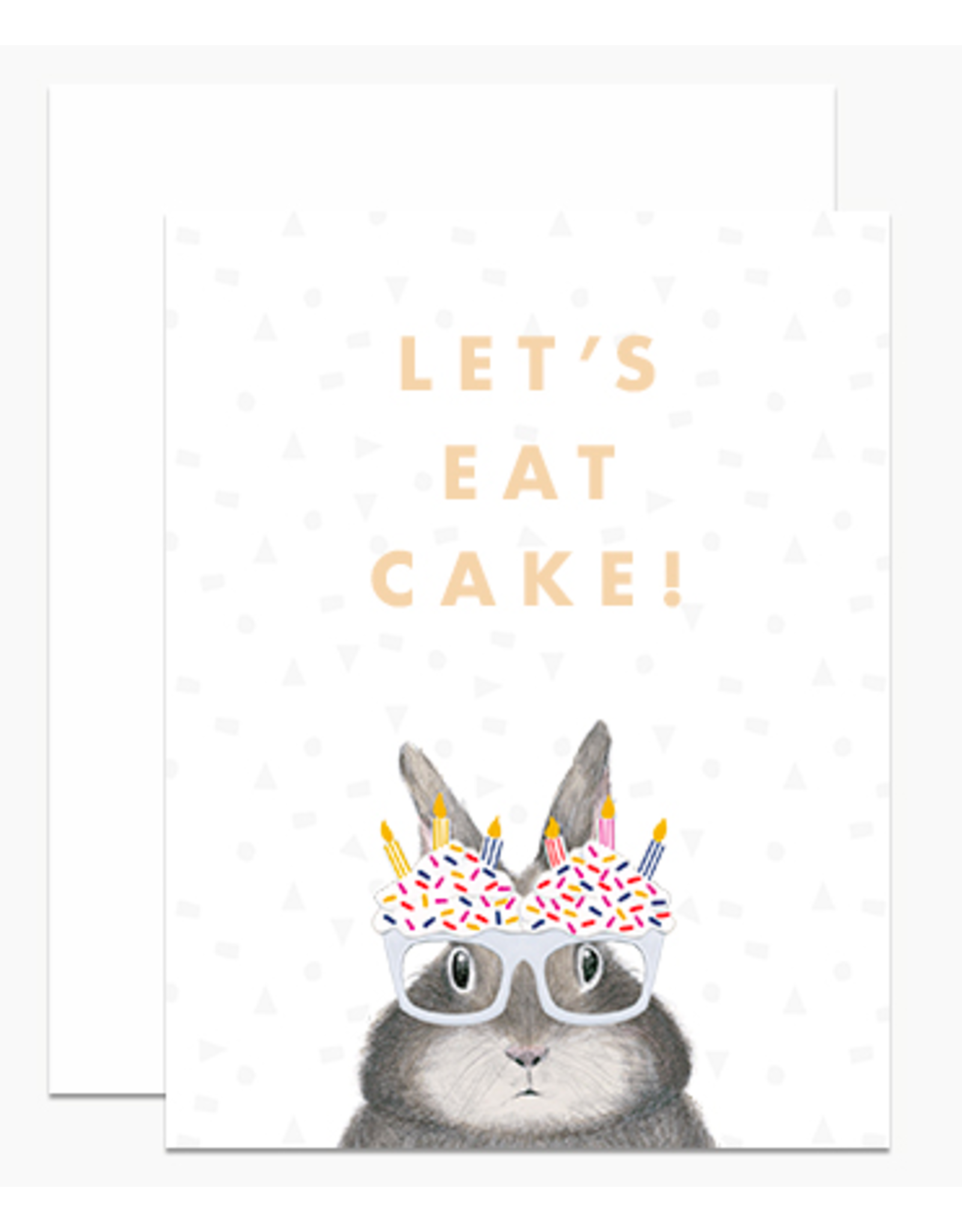 Dear Hancock Let's Eat Cake Card