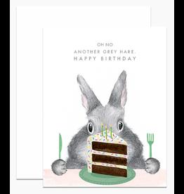 Dear Hancock Another Grey Hare Card