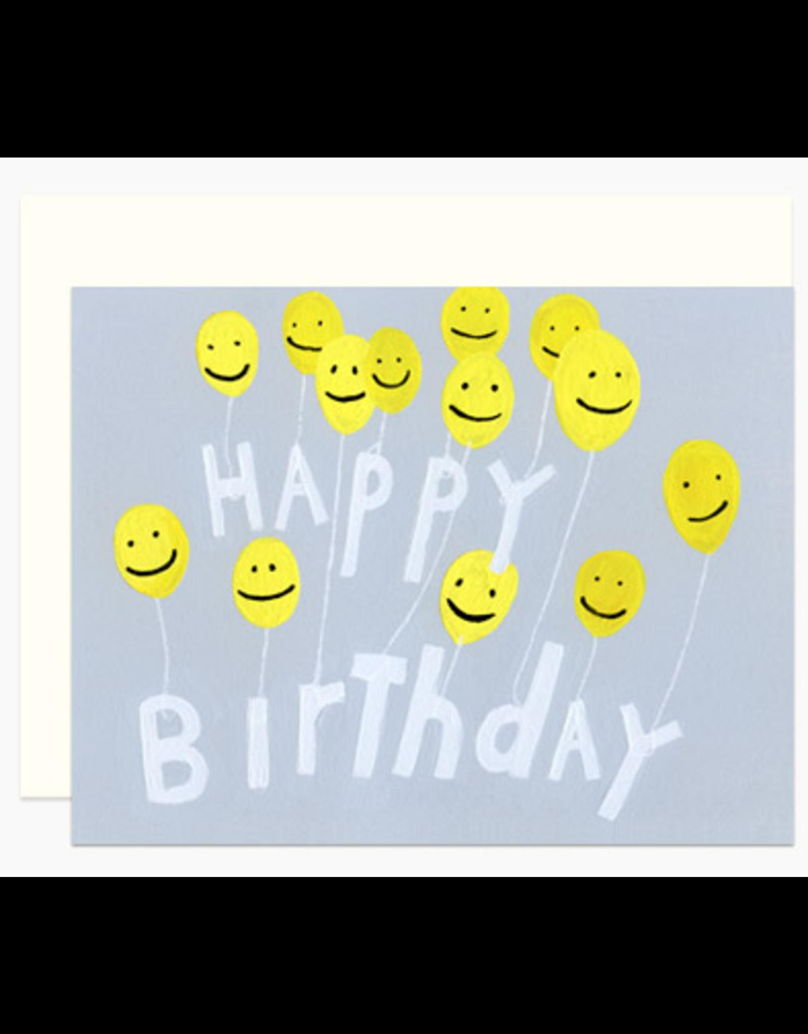 Dear Hancock Smiling Balloons Card