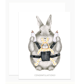 Dear Hancock Congrats Bunny Card