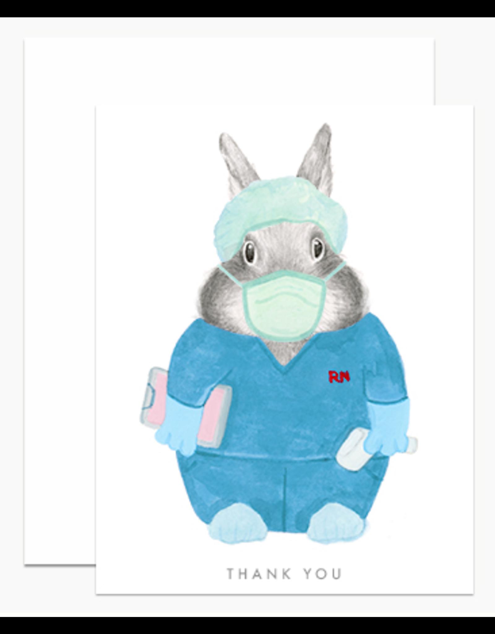 Dear Hancock Nurse Bunny Card
