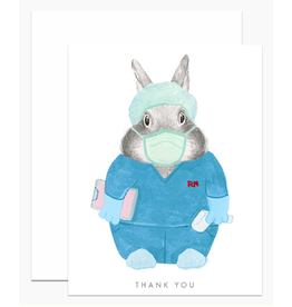 Dear Hancock Nurse Bunny Card