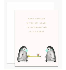 Dear Hancock 6ft Apart Penguins Card