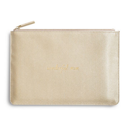 Katie Loxton Wonderful Mom Perfect Pouch in Gold
