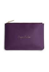 Katie Loxton Super Sister Perfect Pouch in Purple Berry