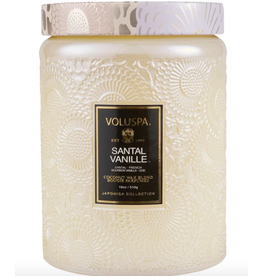 Voluspa Santal Vanille Large Glass Jar Candle