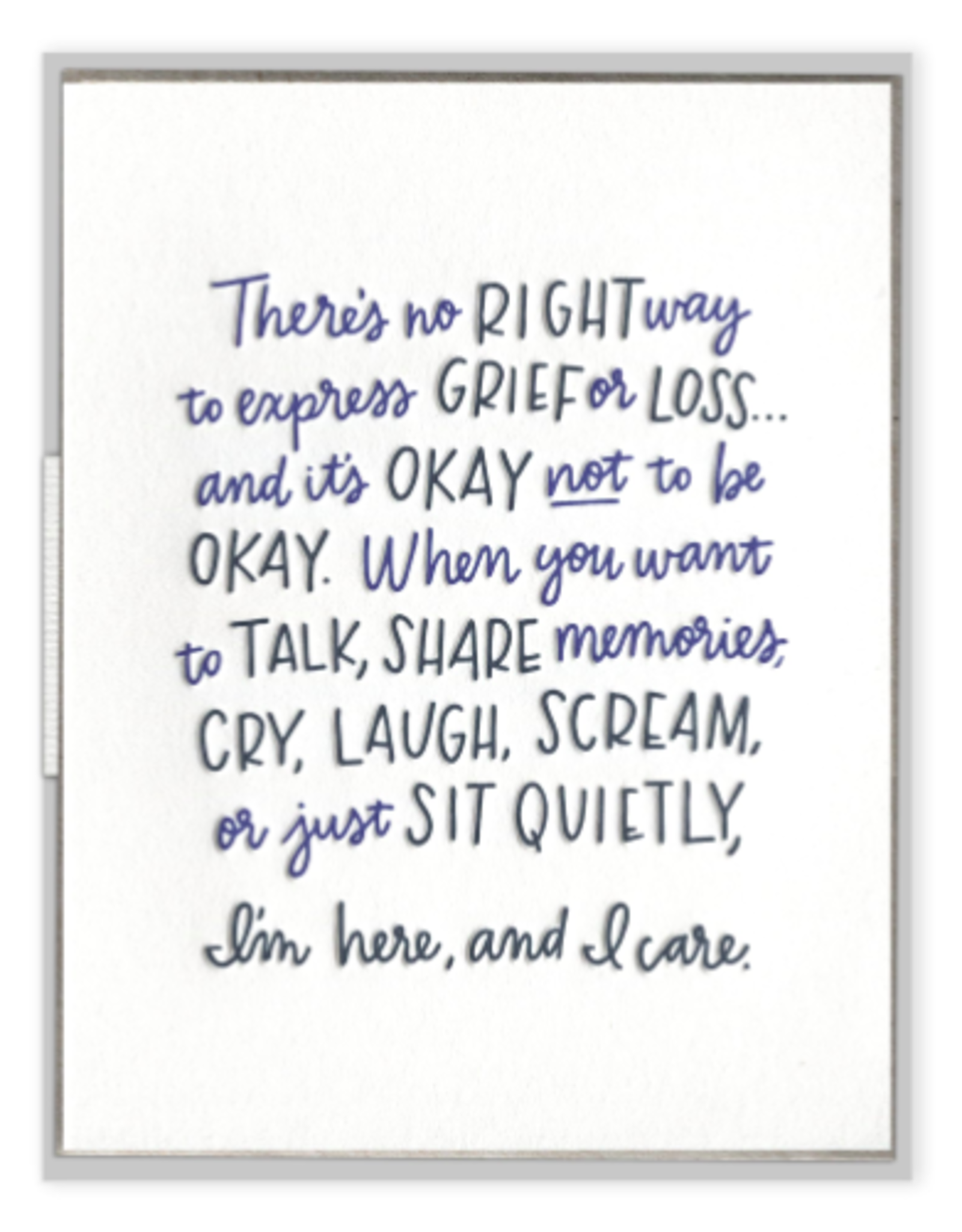 Ink Meets Paper No Right Way to Grieve Card