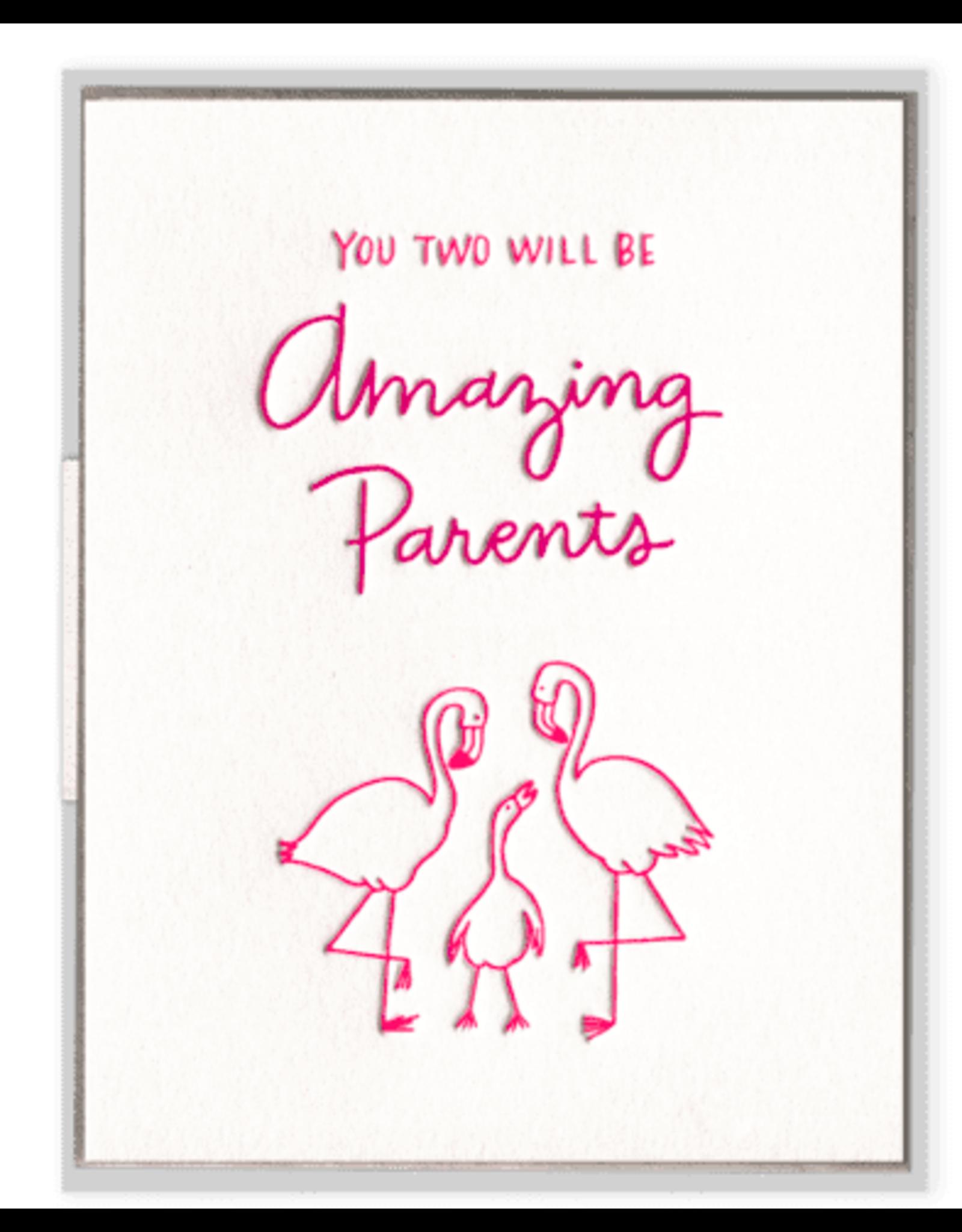 Ink Meets Paper Flamingo Parents Card