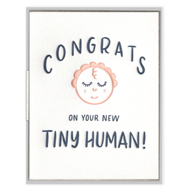 Tiny Human Congrats Card