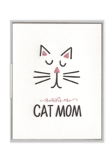 Number One Cat Mom Card