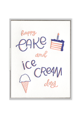 Cake and Ice Cream Day Card