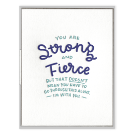 Ink Meets Paper Strong and Fierce Card