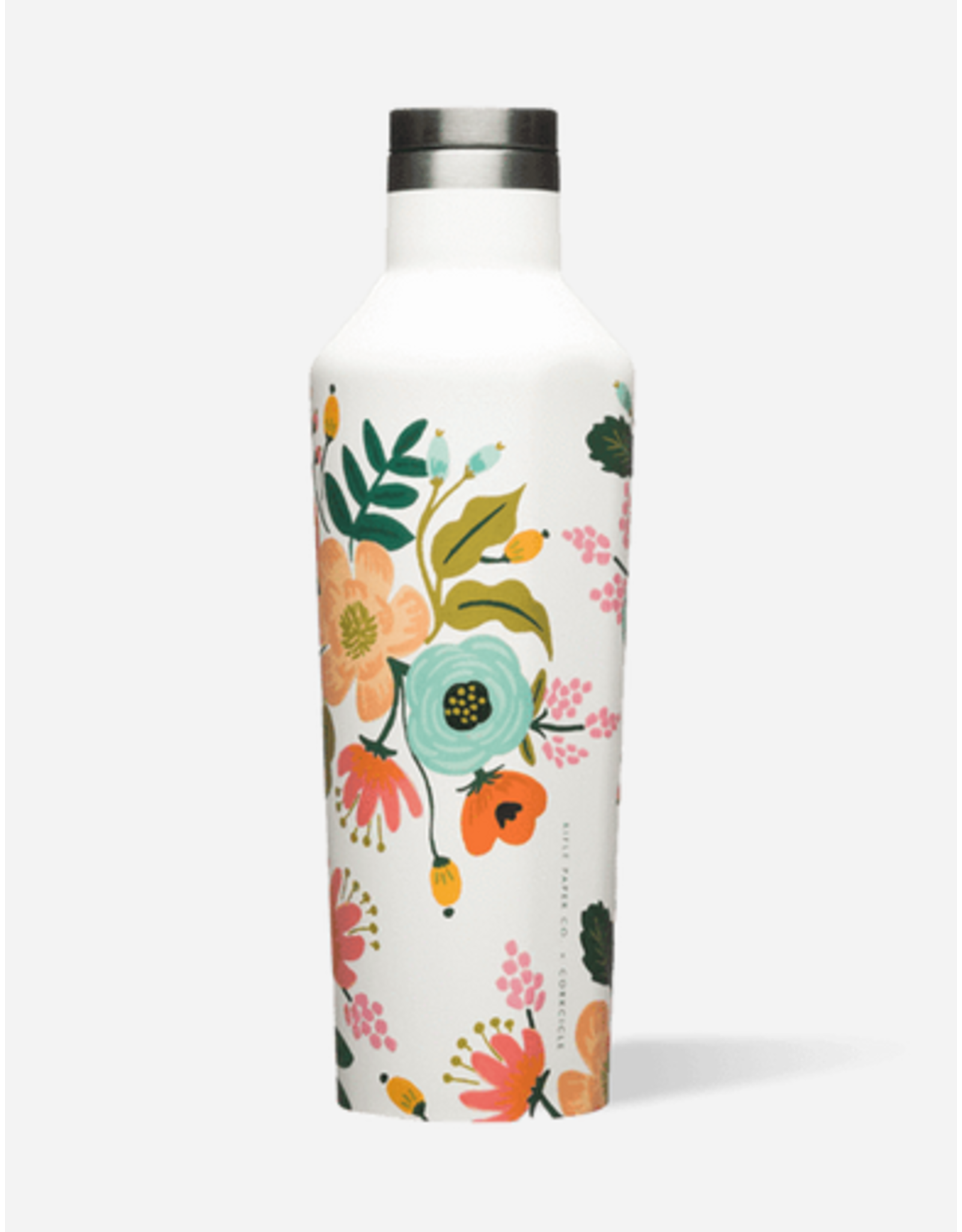 Corkcicle Canteen 16oz Gloss Cream Lively Floral