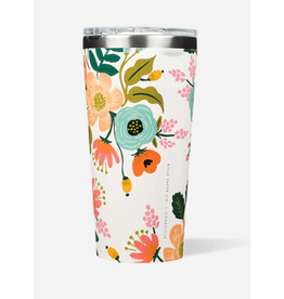 Corkcicle Tumbler 16oz Glossy Cream Lively Floral