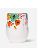Corkcicle Stemless 12oz Glossy Cream Lively Floral