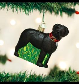Standing Black Lab Ornament