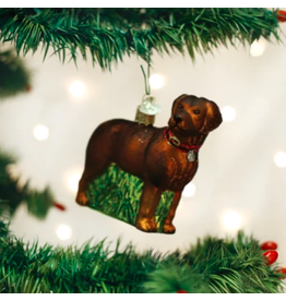 Standing Chocolate Lab Ornament