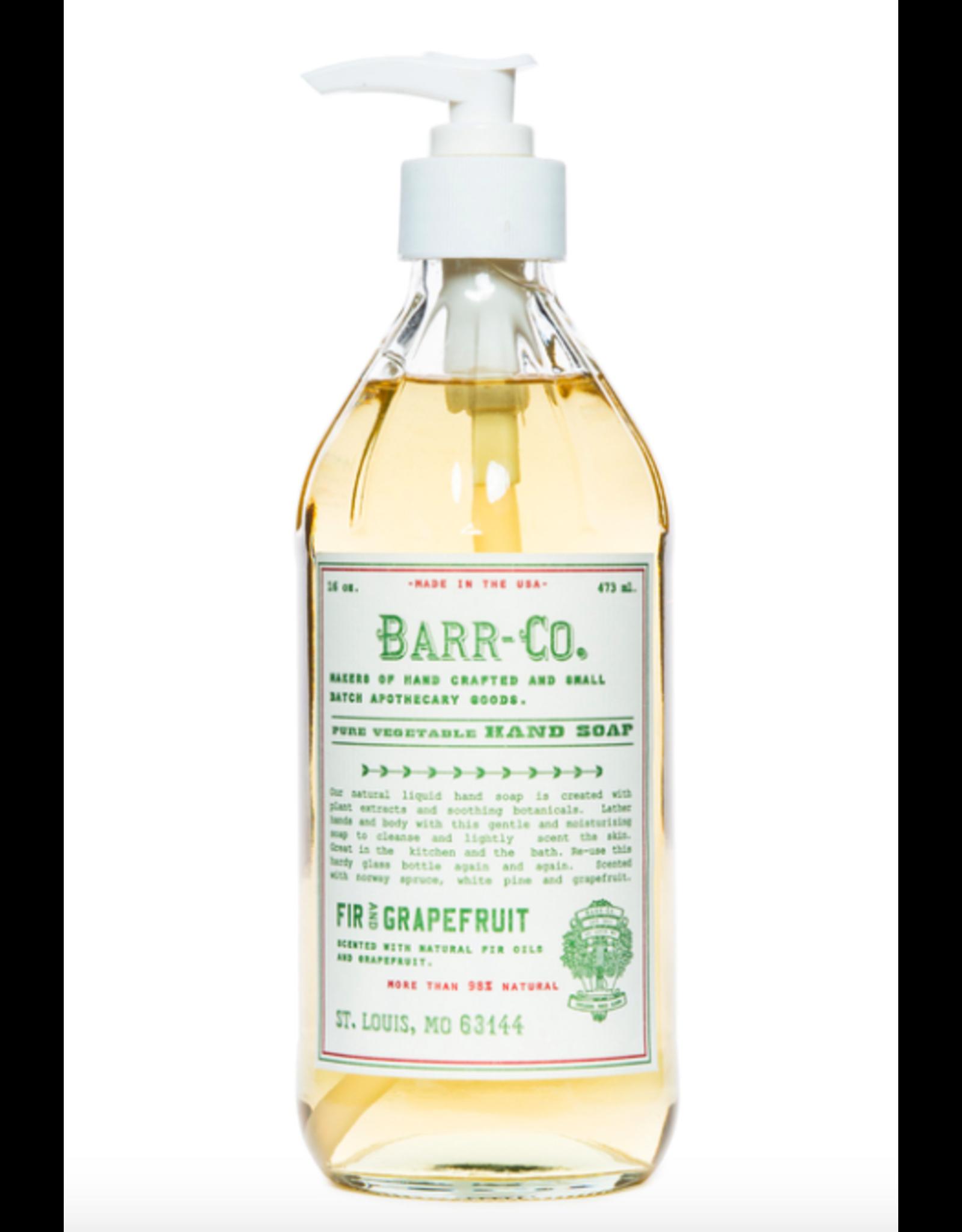 Barr-Co Fir & Grapefruit Hand Soap - 16oz