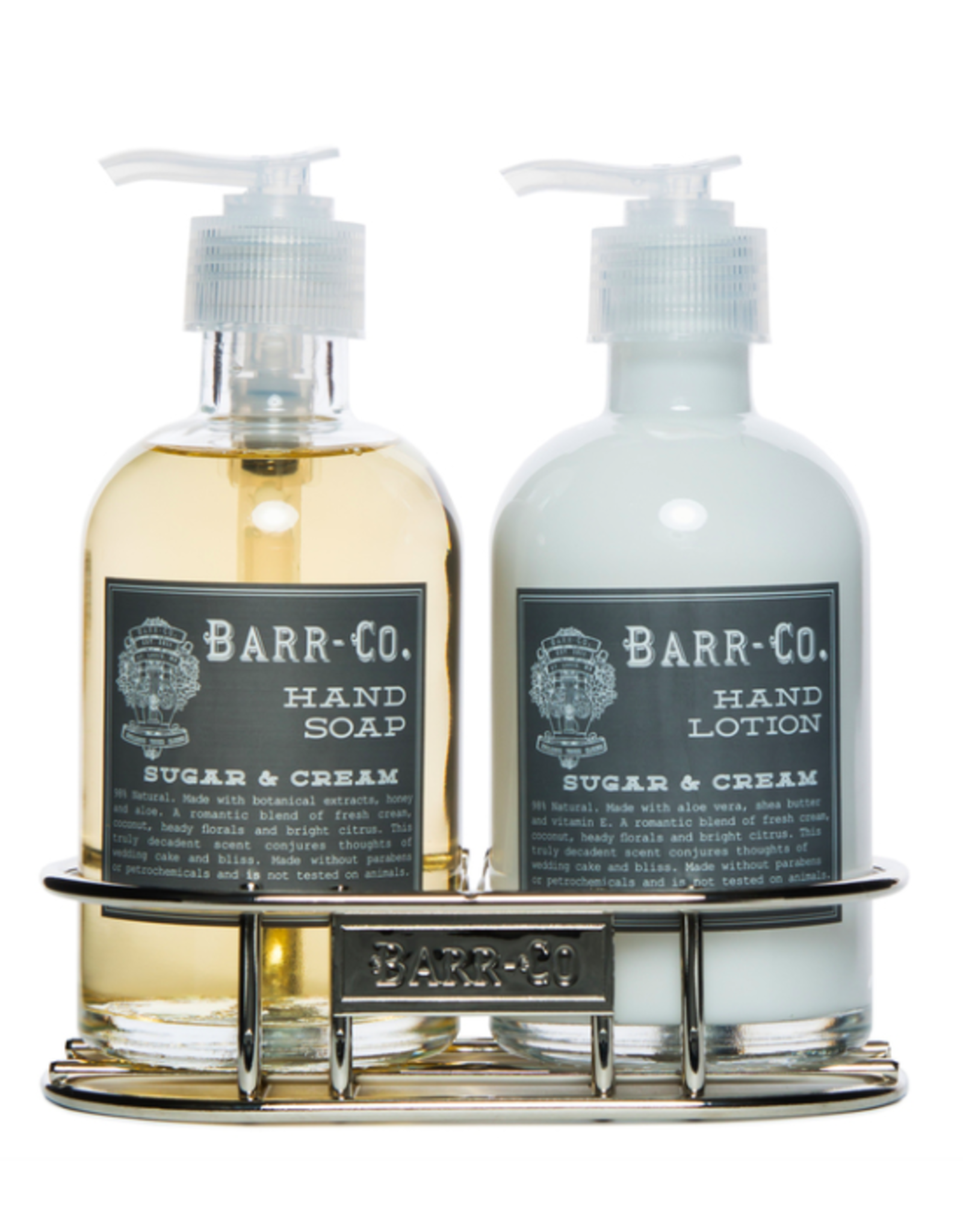 Barr-Co Sugar & Gream Lotion/Soap Caddy Duo