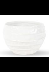 """Wavy White Ceramic Vase 6"""" x 7.5"""""""