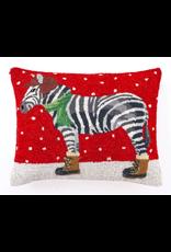 """Peking Handicraft Zebra with Boots Pillow 16""""x 20"""""""