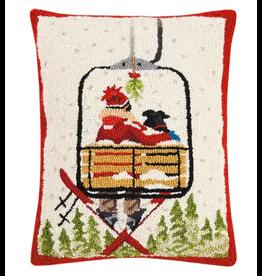"Peking Handicraft Ski Lift with Dog Pillow 16"" x 20"""