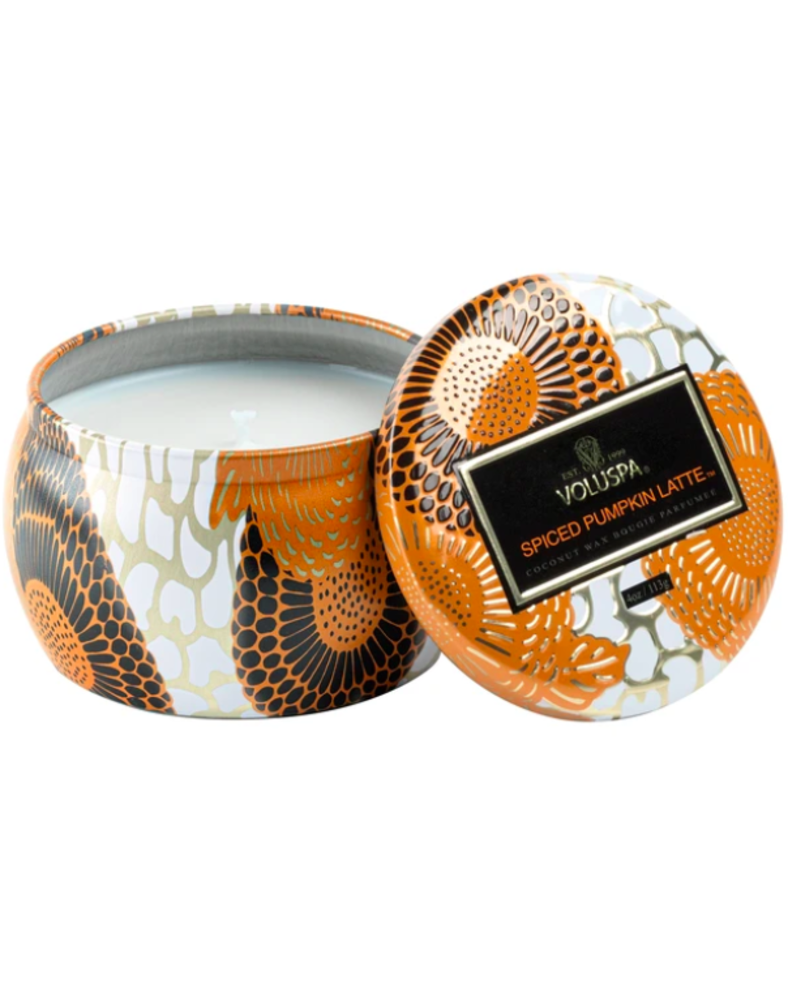 Voluspa Spiced Pumpkin Latte Petite Decorative Tin