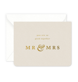 Smitten on Paper Mr. & Mrs. Greeting Card