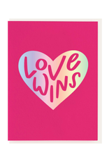 Dahlia Press Love Wins Card