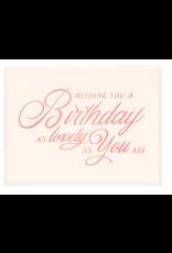 Dahlia Press Lovely Birthday Card