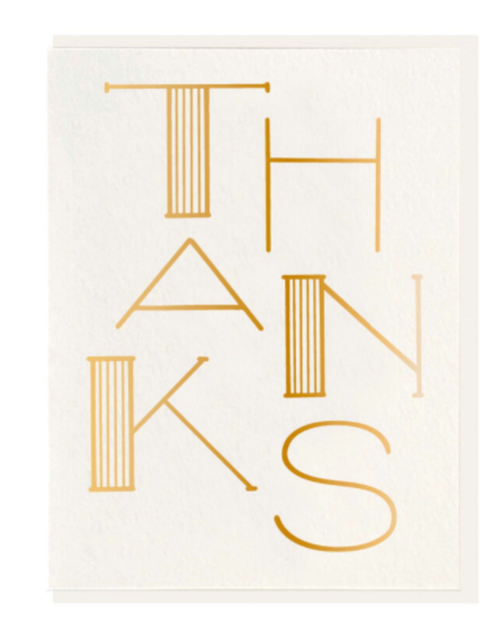 Dahlia Press Thanks Gold Card