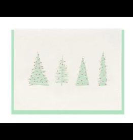Dahlia Press Trees Card