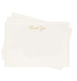 Dahlia Press Thank You Gold Fancy Flat Set