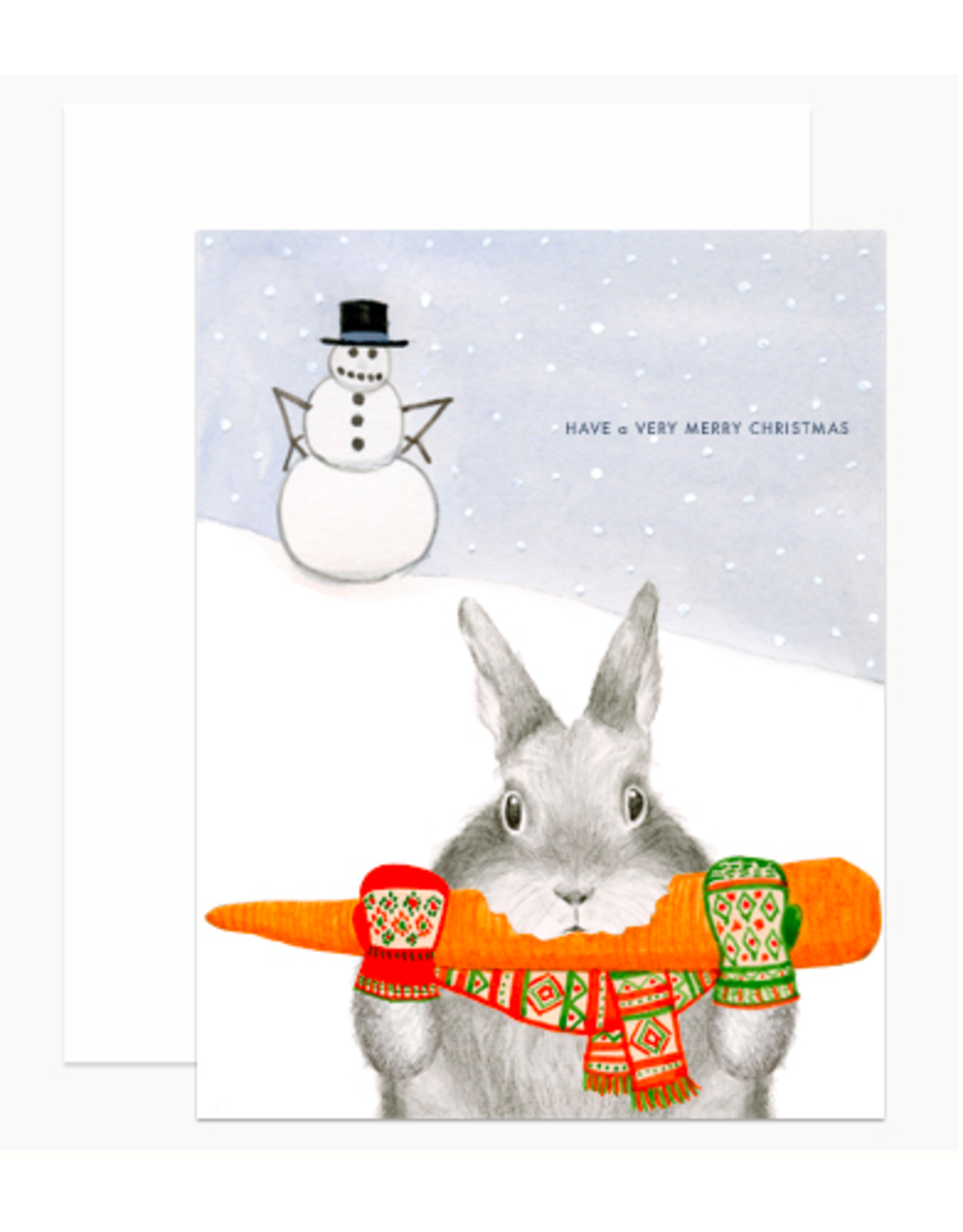Dear Hancock Bunny Stealing Carrot Card