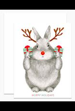 Dear Hancock Reindeer Bunny Card