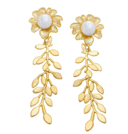 Susan Shaw Marigold Vine Earrings by Susan Shaw