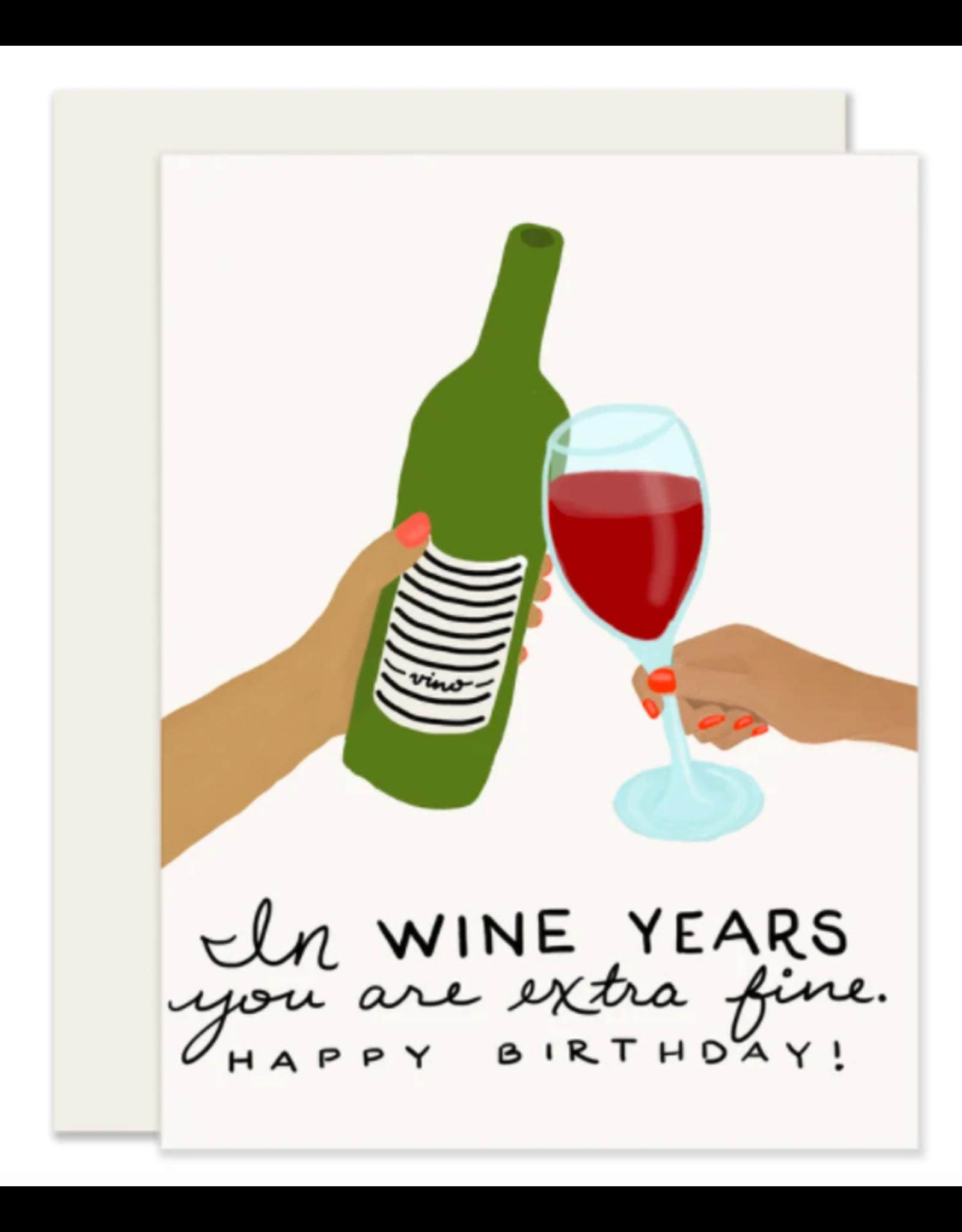 Slightly Stationery Wine Years Card