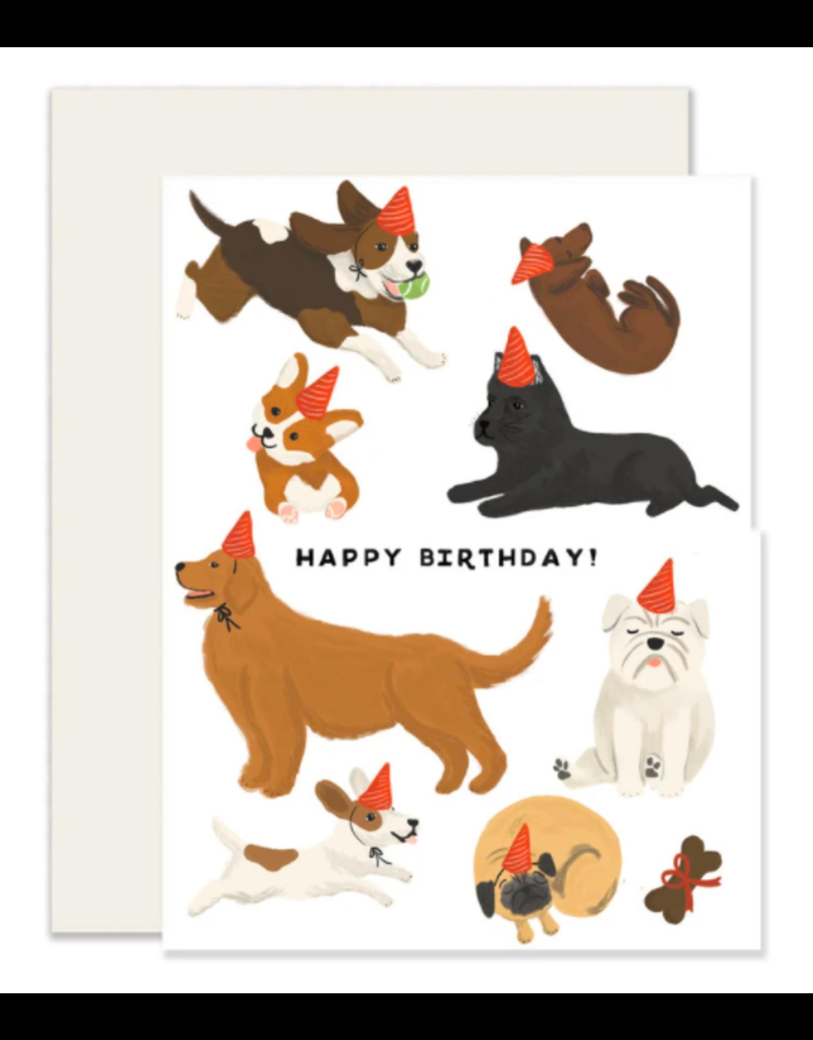Slightly Stationery Dogs Card