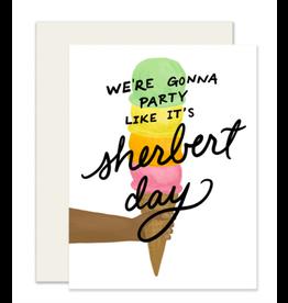 Slightly Stationery Sherbert Day Card