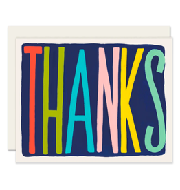 Slightly Stationery Colorful Thanks Card